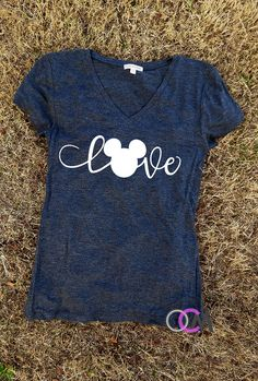 Love Disney Shirt Family Disney Shirts Mickey by 1OneCraftyMomma