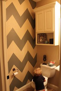 cute idea to add color to a bathroom