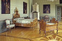 Schlafzimmer der Gräfin im Neuen Schloss Tettnang