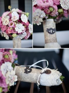 paper flower bouquet...love the wrap on the bottom