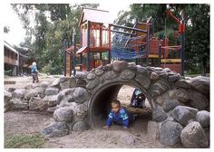 """Kindergarden, Tønsberg, Norway  """"Where equipment is used, it should form an integral part of a wider offer to children that includes, in particular, access to the natural environment.""""  Bernard Spiegal, PLAYLINK"""