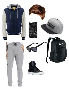 """Typical Teenage Boy"" by epajtash on Polyvore featuring Zanerobe, Supra, Toni&Guy, NIKE, Vans, Rianna Phillips, Aéropostale, Lacoste, men's fashion and menswear"
