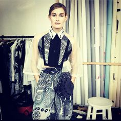#SS15 #Fractal Print shirt and trousers.