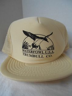ab011f33022 Vtg Waterfowl USA Trumbull Co Duck Drake Trucker Mesh Snapback Ball Cap 5  Panel  Speedway