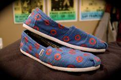 Jon Fishman Inspired Donut Shoes Phish- Mossimo & Co. $30.00, via Etsy.