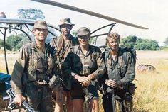 """The numbers of men in the SAS went up to approximately 250 when in June 1978 """"C"""" Squadron (Rhodesian) Special Air Service became 1 (Rhodesian) Special Air Service Regiment. Military Life, Military Art, Military History, Uk Arms, Special Air Service, Royal Marines, Anglo Saxon, Special Forces, Armed Forces"""
