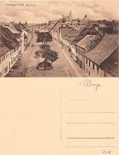 Alte AK Schlaggenwald / Horní Slavkov m. Marktplatz u. Kirche