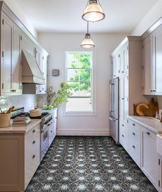 Tile Stickers Blue Lisbon Quart Tile Decal Vinyl Stickers Floor Flooring Bathroom Kitchen Stairs Self Adhesive Removable Peel and Stick Tile Decals, Kitchen Remodel, Kitchen Design, Kitchen Flooring, Kitchen Decor, Small Kitchen, Grey Kitchen, Galley Kitchen, Kitchen Cabinets