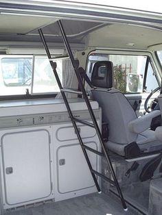 Upper Bunk Ladder [Vanagon/Eurovan] - GoWesty Camper Products - parts supplier for VW Vanagon, Eurovan, and Bus