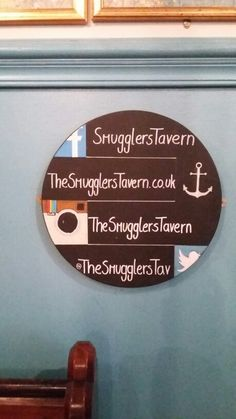 Porthole social media sign