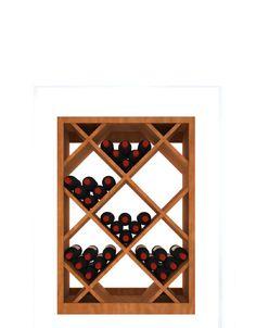 what if I did big ass round holes rather than squares Wine Cellar Racks, Wood Wine Racks, Corner Wine Rack, Butcher Block Table Tops, Wine Rack Storage, Veneer Plywood, Cellar Design, Flat Shapes, Bottle Sizes