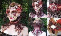 Autumn Countess Mask & Neck ruff by FireflyPath on Etsy, $140.00