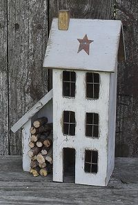 """Lighted Country Houses and Primitive Saltbox Houses. THIS is """"simply"""" adorable!!!"""