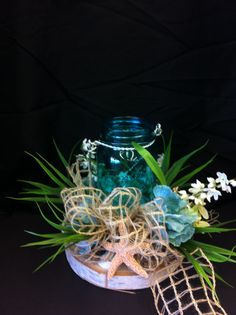 Beach house candle custom floral by Andrea for Michaels Laverne ca