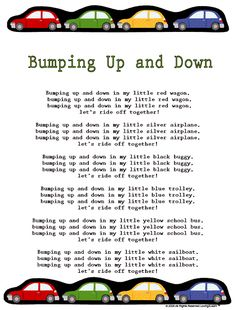 "Transportation Rhymes & Songs: ""Bumping Up and Down"" with a Learn Along Video"