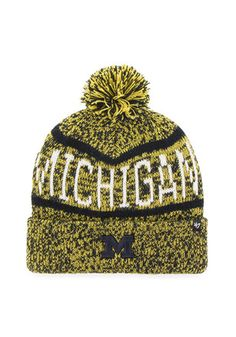 '47 Michigan Wolverines Navy Blue Northmont Knit Hat