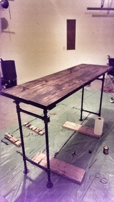 Building A Rustic Industrial Standing Desk | Chase Adams