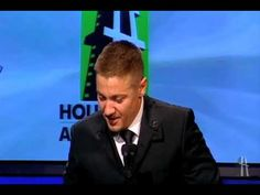 Jeremy Renner at the Hollywood Awards - THIS is why I love Jeremy Renner...