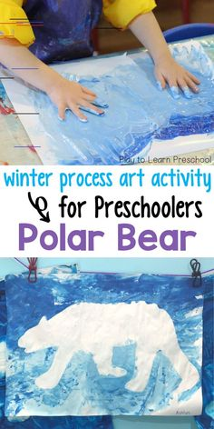 Preschool Process Art: Polar Bear An awesome process art activity parents will want to hang on the fridge! Preschool Art Projects, Preschool Art Activities, Winter Activities, Projects For Kids, Process Art Preschool, Winter Crafts For Kids, Winter Fun, Art For Kids, Preschool Winter