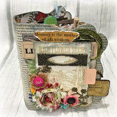 3-Ring CANVAS COVERED Mini Chipboard Junk JOURNAL Binder Planner Organizer Smash Book Scrapbook Art Journal