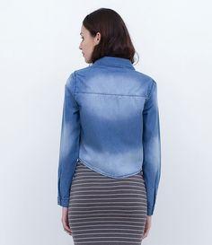 Camisa feminina  Manga longa  Com bolsos  Marca: Blue Steel  Tecido: jeans  Composição: 100% algodão  Modelo veste tamanho: P         Medidas da modelo:     Altura: 1,73   Busto: 80  Cintura: 60  Quadril: 90       COLEÇÃO INVERNO 2016     Veja outras opções de    camisas femininas.
