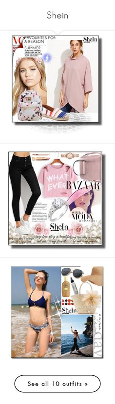 """""""Shein"""" by adelisa56 ❤ liked on Polyvore featuring vintage, shein, Bela, Michael Kors, Moa', Sun Bum, Old Navy, WithChic, 7 For All Mankind and Ciaté"""