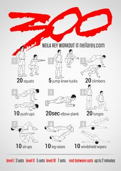 300 workout version 2 by Neila Rey