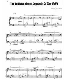 Theme from Legends of the Fall - The Ludlows. piano sheet
