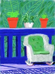 David Hockney iPad Art (Iphone Art) arte sin pínceles ni lienzos