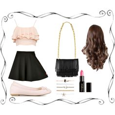 Cutie Pie by captain-bubbles on Polyvore featuring polyvore, fashion, style, Nly Shoes, Proenza Schouler, Wet Seal and Gorgeous Cosmetics