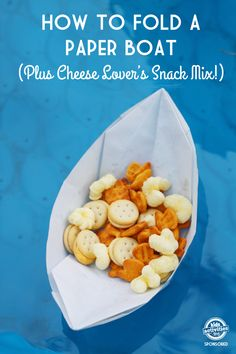 Simple Origami Paper Boats {Plus Snack Mix!}. Learn how to create these simple origami paper boats, plus a delicious snack mix to fill them with. Click now!