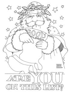 Good List free coloring page ~ Mary Engelbreit