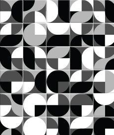 adesivo decorativo de parede: azulejo retrô preto