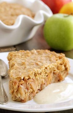 Swedish Apple Pie (gluten-free, vegan, whole grain, dairy-free – please click through to the recipe to see the dietary-friendly options!)