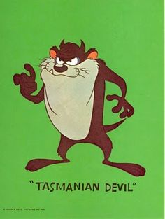 Devil Tasmanian Tune Looney Toons | Love these 1966 LOONEY TUNES character prints!