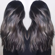 Image result for balayage on jet black hair