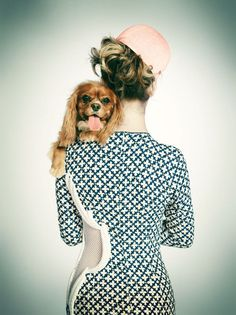 "Spotted! With the tag-line ""Man's best friend is a girl's best accessory"", PAPERMAG presented a series of beautifully shot images recently in support of the Humane Society."