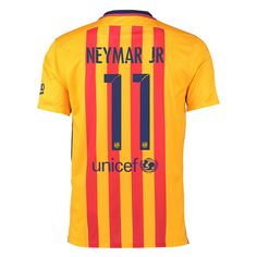 The youth Nike Barcelona away jersey is perfect for young fans. Even better is getting Neymar Jr's name and number on the back. Order your soccer jersey today at SoccerCorner.com http://www.soccercorner.com/Nike-FC-Barcelona-NEYMAR-JR-11-Away-15-16-Yout-p/ttyni659028-740-hero-neymar.htm