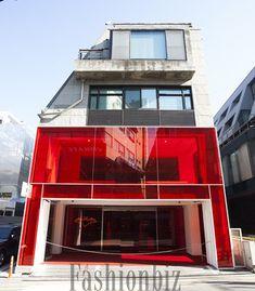Shop Interior Design, Store Design, Red Room Decor, Chicken Store, Mini Store, Acrylic Furniture, Red Rooms, Facade, Restaurant