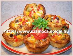 Zöldséges tortácskák leveles tészta kosárban Baked Potato, Muffin, Potatoes, Baking, Breakfast, Ethnic Recipes, Food, Morning Coffee, Potato