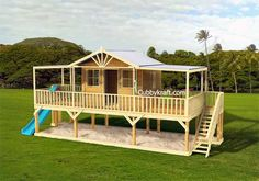 Kids Dream Play House - The Queenslander Cubby House