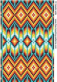 Free Native American Beadwork Patterns   native-american-beadwork-group2-dark-medicine-bag.gif (654×947)