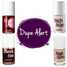 Amazing dupes for the Benefit Benefint and High Beam