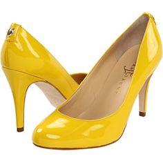 IVANKA TRUMP AMORO - Adorable sunshine yellow patent pumps