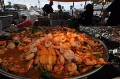 Fresh cooked Florida seafood at the Everglades City Seafood Festival.
