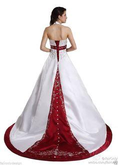 Faironly 2014 Unique Halter V Neck Empire Wedding Dress Bridal Gown Custom Size