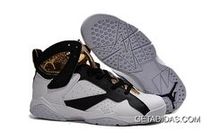 low priced 06f8f 04402 Authentic Cheap Air Jordan 7 New golden logo white black shoe woAuthentic  Cheap Air Jordan retro 7 vii high quality online