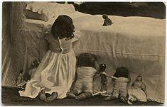 tous les jours millésime: 30 Vintage photos de petites filles posant avec leurs poupées