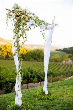 vineyard wedding arch
