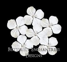 White Hair Flowers, Bridal Hair Accessories, Rustic Wedding Hairpins - 6 White Hydrangea Hair Pins - Rhinestone Centers via Etsy